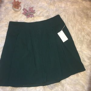 A New Day Pleated Mini Skirt In Country Clover